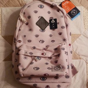 Parkland Kids Backpack - White with Eyes Pattern